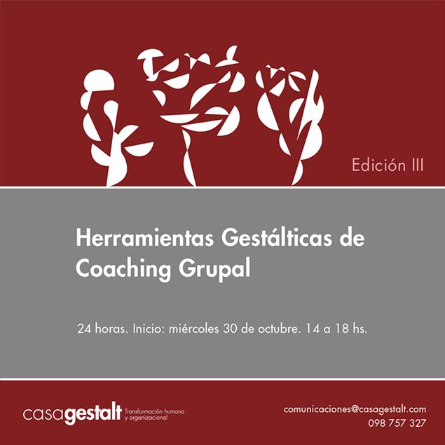 Imagen de Herramientas Gestálticas de Coaching Grupal Edición III (24 horas)
