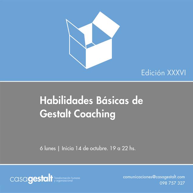 Imagen de Habilidades Básicas de Gestalt Coaching Edición XXXVI - 2019