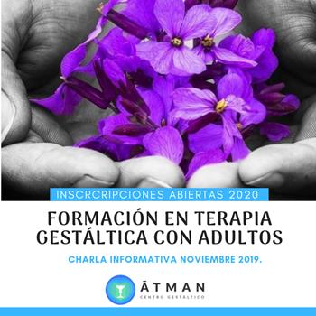 Imagen de CHARLA INFORMATIVA, FORMACIÓN EN TERAPIA GESTÁLTICA CON ADULTOS 2020