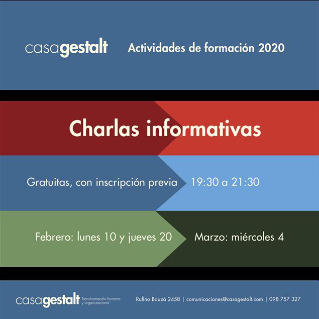 Imagen de Charlas Informativas 2020 en casagestalt